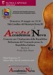 Locandina concerto 18 maggio